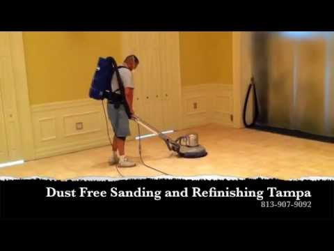 Dustless Hardwood Floor Refinishing Tampa