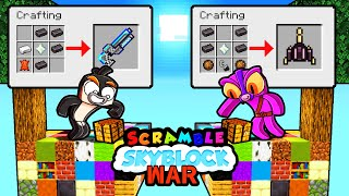 Skyblock SCRAMBLE CRAFT WAR! (Minecraft)