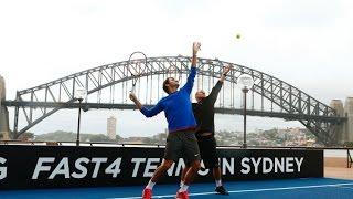 Roger Federer & Hewitt Serve Up Sydney Harbour Spectacular   Tennis Australia