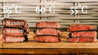 Beste Sous Vide Garzeit und Temperatur für Steaks - Das Experiment