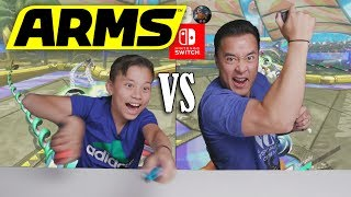 ARMS BATTLE ROYAL!!! Father VS. SON on Nintendo Switch! - dooclip.me