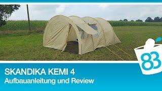 Skandika Kemi 4 Personen Tunnelzelt mit 2 Schlafkabinen - Skandika Kemi Aufbauanleitung und Test