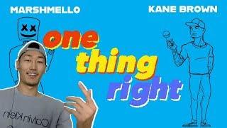 Marshmello X Kane Brown   One Thing Right REACTION