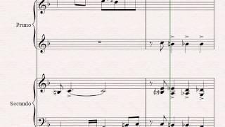Let It Snow! Let It Snow! Let It Snow! - Christmas Song by Sammy Cahn - Swing - Piano Duet (4 Hands)