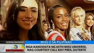 Mga kandidata ng 65th Miss Universe, nag-courtesy call kay Pres. Duterte
