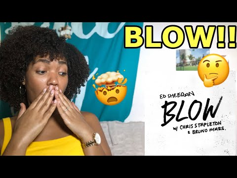 ED SHEERAN NEW SONG!! BLOW ft. CHRIS STAPLETON AND BRUNO MARS (AUDIO) REACTION