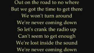 Faber Drive - Never Coming Down Lyrics