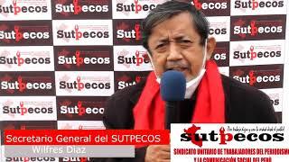 """""""La lucha es el camino"""", jornada de lucha del 5 de Nov CGTP. """"SUTPECOS"""", IPNEWS, LA VOZ DEL PUEBLO ¡presente!"""