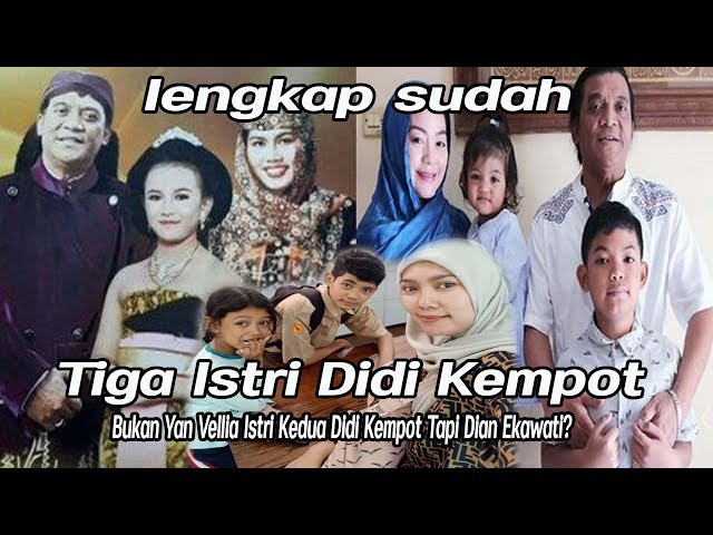 Lengkap Sudah Istri Didi Kempot, Yan Vellia Bukan Istri Kedua Didi Kempot, Tapi Dian Ekawati?