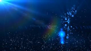 Blue motion graphics background | Particles effect video | Moving background | Royalty Free Footages