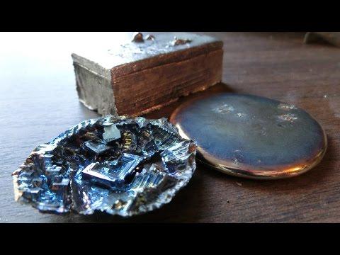 Melting Bismuth, Casting Ingots, and Making Crystals