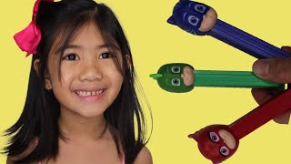 PJ MASK LEARN COLORS WITH SOPHIA AND BRON