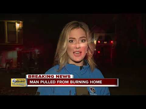 Man suffers burns after house catches fire in Detroit; 2 women & child get out safely