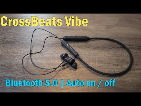 CrossBeats Vibe review Bluetooth Headset with Mic, Neckband, auto ON/OFF