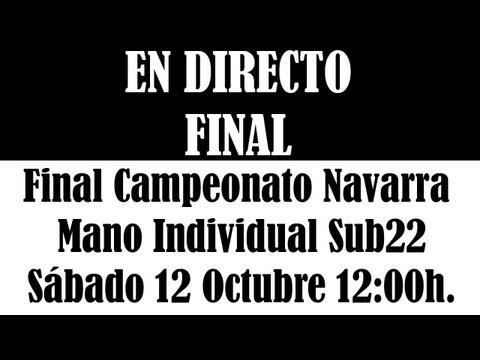 Final Campeonato Navarro Individual Sub22