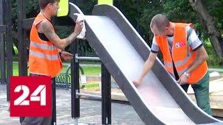 Сергей Собянин осмотрел ход работ в детском Черкизовском парке!