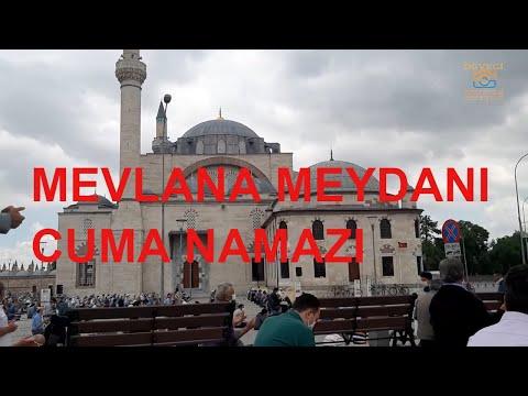 Mevlana meydanı Sultan Selim Camii cuma namazı koronadan dolayı dışarıda kılınan namaz.