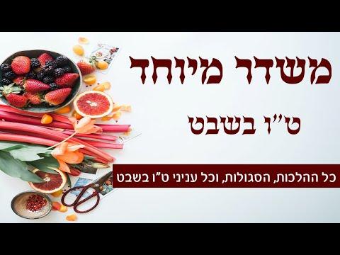 משדר מיוחד לטו בשבט - עם מיטב הרבנים והמרצים