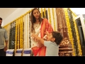 Download Video Jr NTR Son Abhay Ram Making Fun With His Mom Pranathi @ #NTR27 Opening   TFPC