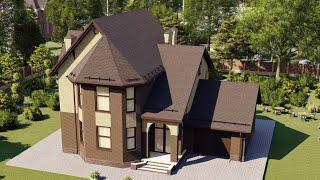 Проект дома 178-C, Площадь дома: 178 м2, Размер дома:  15,3x13,1 м