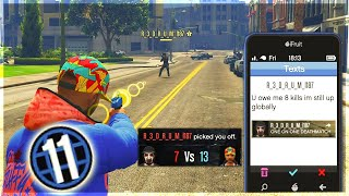 Level 11 Outsmarts This Tryhard Who Begs For His Kills Back on GTA 5 Online!