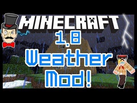 Minecraft 1.8 WEATHER CONTROL Mod! Turn Rain On & Off, Lightning & Thunder Mayhem!
