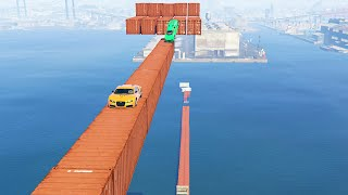EXTREME WATER CONTAINER STUNT! (GTA 5 Funny Moments)