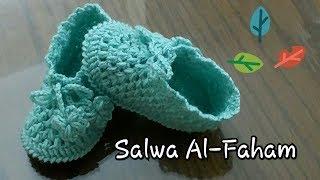 كروشيه لكلوك /حذاء/سليبر اطفال ( الجزء الثانى ) - (Crochet Baby Booties/Shoes/Slippers(part2
