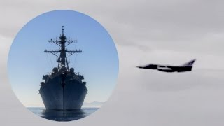 Russian Su-24 Jet Buzzes US Destroyer