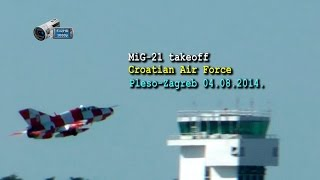 preview picture of video 'Mig-21 takeoff-Croatian Air Force (Zagreb-Pleso 04.08.2014.)'
