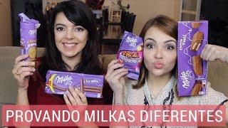 Provando tipos de Milka | Lia Camargo e Karol Pinheiro