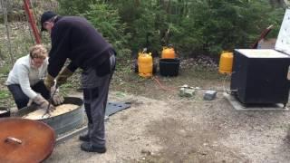 Tømning af rakuovn