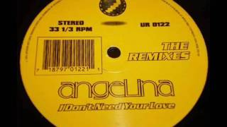Angelina   I Don't Need Your Love The RemixesMaxi Single Vinyl