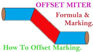 How To Piping Offset Miter Cut Formula & Marking