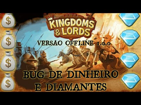 TUTORIAL COMO GANHAR DIAMANTES E DINHEIRO NO KINGDOMS E LORDS