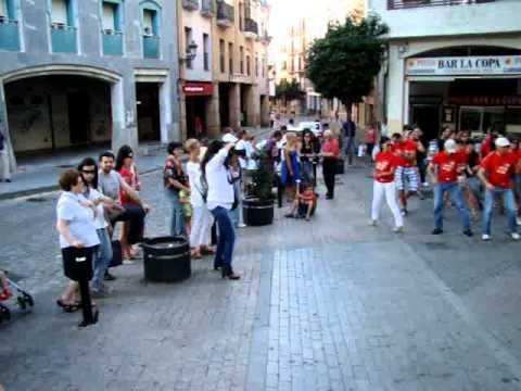 Baile en la calle para promover la donación de órganos