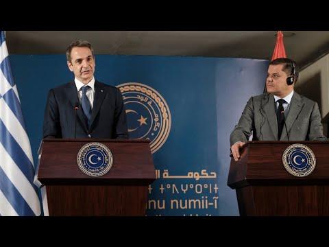 Κοινές δηλώσεις Κυριάκου Μητσοτάκη και Abdul Hamid Dbeibeh