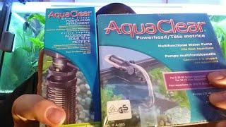 Powerhead  und Schnellfiltereinheit von Aquaclear. Unboxing, Installation und Test