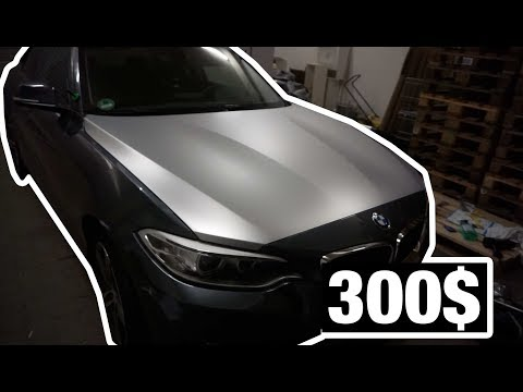300$ Vollfolierung Auto Folie von Aliexpress in Chrom Satin Silber günstige DIY Part 1