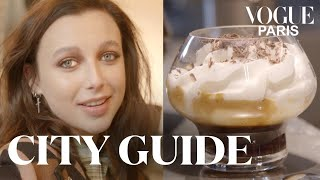 Emma Chamberlain tests the 3 best coffee shops in Paris | City Guide | Vogue Paris