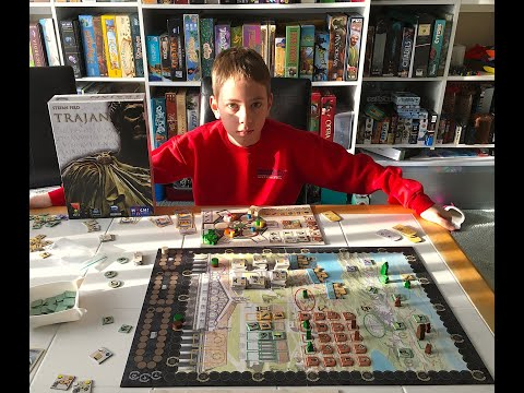 Trajan Board Game Review!...with Justin and Max