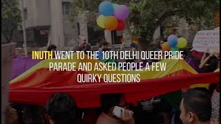 People answer quirky questions at Delhi Queer Pride 2017