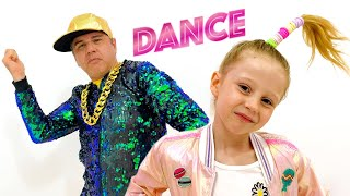 Nastya and dad learn to dance