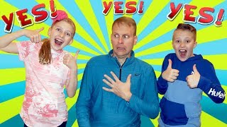 Dad Says YES to Everything Kids Ask For 24 Hours Challenge!