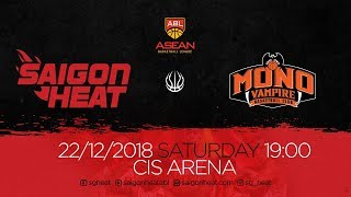 ABL9 || Home - Game 9: Saigon Heat vs Mono Vampire 22/12 | Full Game Replay