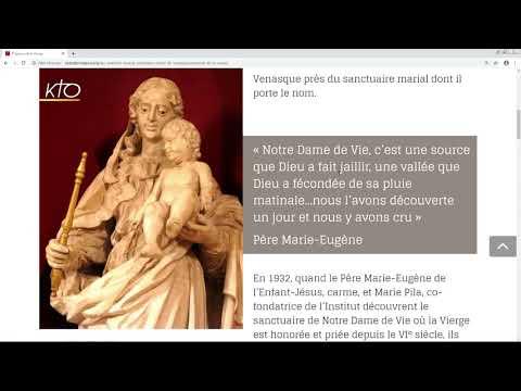 Le site web de Notre-Dame de Vie