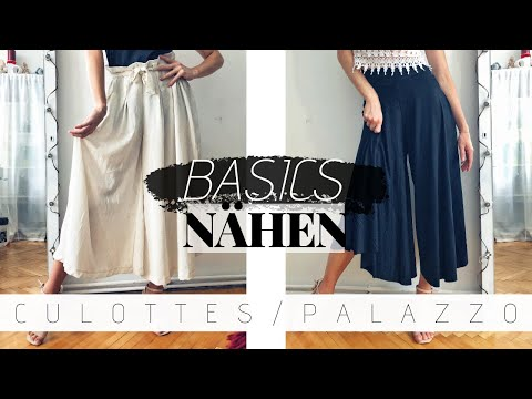 Culottes selber machen | simple Kleiderschrank-BASICS nähen OHNE Schnittmuster