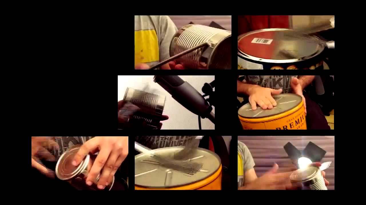 Percussão com Latas recicladas - funk, samba e algo de criatividade