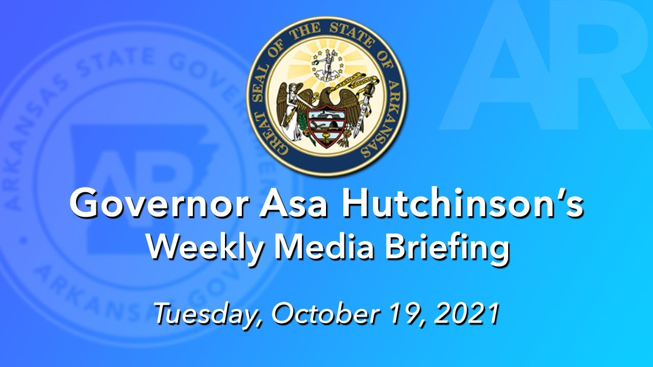 LIVE: Governor Hutchinson's Weekly Media Briefing (10.19.21)