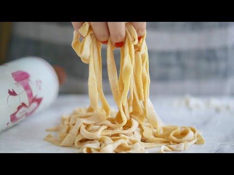 2 Ingredient Homemade Pasta — Without A Machine! | Bigger Bolder Baking